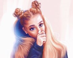images about 🎨Drawings🎨 on We Heart It Ariana Grande Drawings, Ariana Grande Wallpaper, Ariana Grande Pictures, Dangerous Woman Tour, Celebrity Drawings, Tumblr Girls, Girly, Celebs, Hair Styles