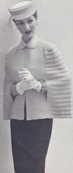 Vintage Cape Coat Knitting Pattern