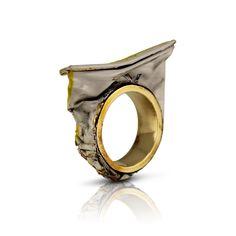 Aviv Kinel -ISRAEL  ring (Paint tube, brass.)