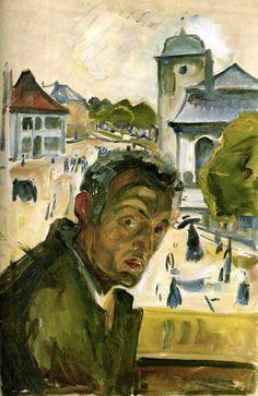 Edvard Munch. Selfportrait 1916