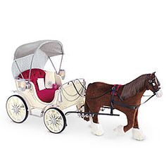 American Girl® Accessories: Pretty City Carriage and Prancing Horse $373.00 before tax Ladies.....