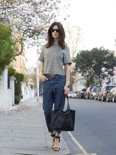 Get this look: http://lb.nu/look/3251347  More looks by Hedvig ...: http://lb.nu/northern  Items in this look:  Cos Jeans, Topshop Silk Tee, Céline Bag, Céline Sandals