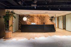 IMG_0002 Office Entrance, Office Lobby, Office Reception, Office Decor, Lobby Interior, Interior Walls, Interior Design, Japanese Modern, Cafe Restaurant