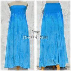 SkyBlue★Maxi skirt & Dress