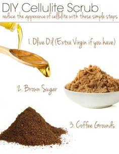 Quick Beauty Tip – DIY Cellulite Scrub, coffee works so good for cellulite and loose skin! DIY Beauty Tips, DIY Beauty Products #DIY #Nutrición y #Salud YG > nutricionysaludyg.com