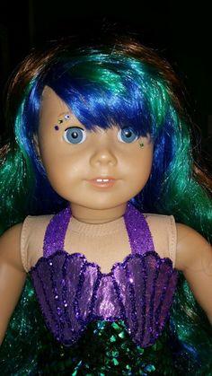 Custom American Girl Mermaid Blue Eyes | eBay
