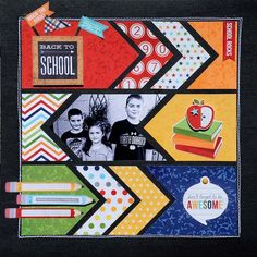 Created by design team member Tonya Dirk from Two Peas using our Smarty Pants collection simple stories back to school scrapbook layout School Scrapbook Layouts, Kids Scrapbook, Scrapbook Sketches, Scrapbook Paper Crafts, Scrapbook Cards, Simple Scrapbooking Layouts, Scrapbook Templates, Wedding Scrapbook, Picture Layouts