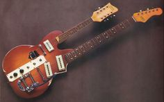 Teisco Del Rey's 1967 Carvin #1-MS Doubleneck. Interesting.