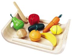Amazon.com: Plan Toys Assorted Fruits and Vegetables (Solid Wood Version)
