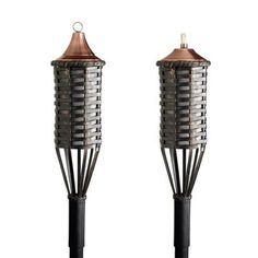 Great for the beach or the backyard, these festive torches set the mood all night long.