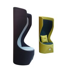 Acoustic design created for high-traffic areas. Hide provides a place to drop in, make a phone call, or to escape from office noise - the perfect getaway space. Funky Furniture, Contemporary Furniture, Office Furniture, Furniture Design, Office Noise, Office Lounge, Airport Lounge, Coffee Chairs, Acoustic Design