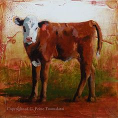 Cow painting Cow original oil painting on by ToomalataiFineArt