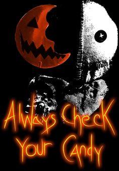 "zombiecupcakebabydoll: ""Trick or treat "" Halloween Kunst, Halloween Artwork, Halloween Wallpaper, Trick Or Treat Film, Sam Trick R Treat, Halloween Birthday, Halloween 2020, Cute Halloween, Movie Crafts"