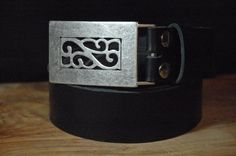 Women's Leather Belt  Buckle Flower  Color Size by CUERO925LEATHER, €24.00