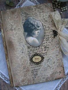 Romantic lace diary #art_journal #shabby_chic journal #mixed_media