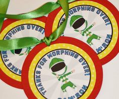 Power Rangers Inpsired Party Favor Tags