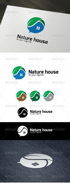 Nature House - Buildings Logo Templates