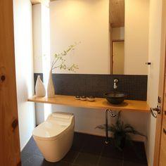 Japanese Modern, Japanese Interior, Washroom, Toilet, House Design, Mirror, Home Decor, Google, Flush Toilet