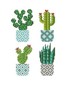 Cute Cactus cross stitch pattern PDF Modern cross stitch chart Floral cross stitch plants Succulent Hoop Art Mini Botany Easy cross stitch - DIY and Crafts Blackwork Cross Stitch, Celtic Cross Stitch, Biscornu Cross Stitch, Cactus Cross Stitch, Dmc Cross Stitch, Cross Stitch Bookmarks, Simple Cross Stitch, Cross Stitch Flowers, Cross Stitch Embroidery