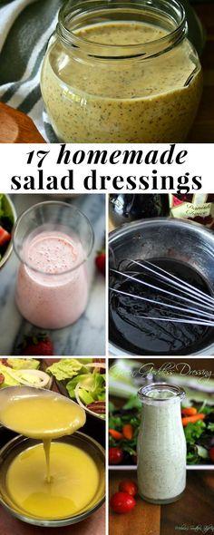 Easy homemade salad dressing recipes
