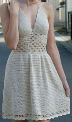 54 Cute, Unique and Awesome Crochet Dress Patterns For Women 2019 Part crochet dress pattern; crochet dress pattern for women Image gallery – Page 307863324526429148 – Artofit 💖Olha que lindo meninas! This Pin was discovered by Tat - Salvabrani Crochet Summer Dresses, Crochet Lace Dress, Crochet Doilies, Knit Dress, Crochet Jumper, Crochet Top, Crochet Baby, Crochet Toddler, Crochet Sweaters