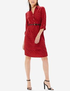 Printed Ashton Shirtdress from THELIMITED.com
