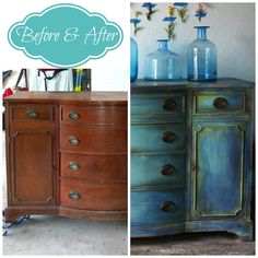 Vintage Furniture The Turquoise Iris ~ Vintage Modern Hand Painted Furniture CeCe Caldwell's Paints Chalk Paint Furniture, Hand Painted Furniture, Distressed Furniture, Refurbished Furniture, Repurposed Furniture, Home Decor Furniture, Furniture Projects, Rustic Furniture, Furniture Makeover