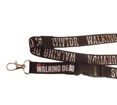 AMC The Walking Dead Survivor Skull Black Detachable Lanyard Keychain