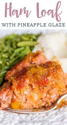 Ham Loaf Recipe {With Brown Sugar Pineapple Glaze.} - Ham Loaf Recipe {With Brown Sugar Pineapple Glaze. Ham Recipes, Meatloaf Recipes, Sauce Recipes, Cooking Recipes, Potluck Recipes, Easter Recipes, Thanksgiving Recipes, Holiday Recipes, Chicken Recipes