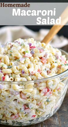 Macaroni Salad is the best side dish for your BBQ parties and potlucks. This is our favorite Macaroni Salad full of red onions celery bell peppers herbs and of course delicious creamy dressing. Macaroni Salad Ingredients, Homemade Macaroni Salad, Pasta Salad Recipes, Recipe For Macaroni Salad, Macaroni Salad With Chicken, Healthy Macaroni Salad, Summer Macaroni Salad, Southern Macaroni Salad, Macaroni Pasta Salad