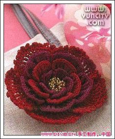 crochet - these flowers look more like the ones were supposed to for that rug pattern...