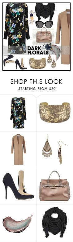 """""""Dark Floral"""" by sharonbeach ❤ liked on Polyvore featuring Amanda Wakeley, Alexis Bittar, Balmain, Blugirl, Butter London, Echo, Gucci and darkflorals"""