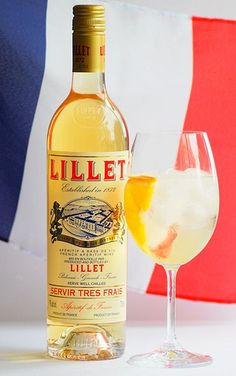 Lillet Blanc on ice - Bastille Day