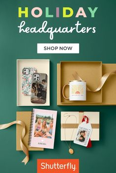 Gifts for him, gifts for her, gifts for kids, gifts for mom, gifts for dad – Shutterfly is your one-stop shop! You could create a unique group gift with a favorite shared memory or personalize an individual gift for everyone on your shopping list. Photo books, wall calendars, mugs, barware and more are all some of the best gift ideas when you put your own spin on them. Personalize with a favorite photo, memory, or pick a fresh and modern design from our free Art Library. Shutterfly, For Everyone, Photo Book, Gifts For Dad, Holiday Gifts, Merry Christmas, Best Gifts, Mugs, Shopping
