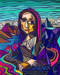 Claudio Limón Mexico -Jalisco - Sites new Bd Pop Art, Arte Peculiar, La Madone, Abstract Face Art, Cubism Art, Psychedelic Art, Art Plastique, Aesthetic Art, Art Lessons