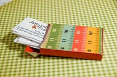 Upcycle gum packages/altoids tins into business card holder