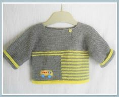 48 Trendy ideas for knitting patterns baby sweaters tricot Baby Boy Knitting Patterns, Baby Sweater Knitting Pattern, Baby Patterns, Baby Boy Cardigan, Baby Pullover, Pull Bebe, Baby Afghan Crochet, Crochet For Boys, Baby Sweaters