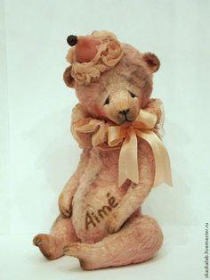 Купить Aime (Любимый) - кремовый, мишка тедди, мишка ручной работы, авторский мишка