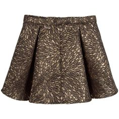 Guess Girls Black & Gold Brocade Skirt at Childrensalon.com