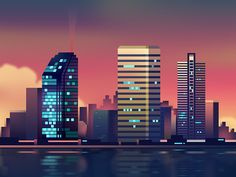 Great work from a designer in the Dribbble community; your best resource to discover and connect with designers worldwide. Flat Design Illustration, City Illustration, Creative Illustration, Visit Dallas, City Skyline Art, Game Design, Design Web, City Landscape, Graphic Design Projects