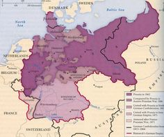 (Map of Prussia in the 1860s) Short history lesson: Prussia was a empire in the Germanic region. And is now the eastern part of Germany once dissolved in the 1900's.