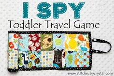 I spy toddler travel game...you need a lot of interesting kid-themed novelty scraps, though.
