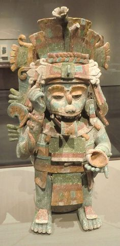 """LACMA has opened its second great archeological exhibition in the Resnick Pavilion, """"Children of the Plumed Serpent: The Legacy of Quetzalcoatl in Ancient Mexico."""" Geographically it overlaps the 2010 Olmec show; chronologically it's a couple of millennia later, from about 1000 to 1600. As with the previous show, it has scores of major loans from Mexican museums. One coup is the newly excavated Mayan figure of Quetzalcoatl's half-dog brother, Xolotl (top). It alone is reason to see the show."""