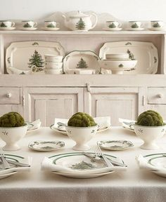 Christmas Tree Spode.....This is my Christmas China pattern!