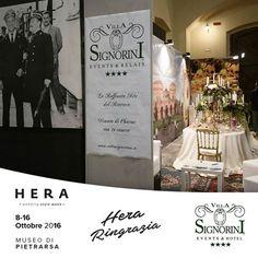 """Terminata la Fiera Sposi """"Hera Wedding Style Week"""" vi Aspettiamo nella nostra Dimora Storica (Via Roma 43, Ercolano - Napoli).  Villa Signorini: La Raffinata Arte del Ricevere!!!"""