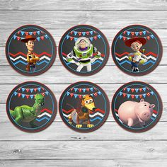 Hey, I found this really awesome Etsy listing at https://www.etsy.com/listing/228421090/toy-story-cupcake-toppers-chalkboard-red