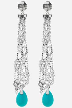 Spun Sugar Earrings with our Turquise Charms #CandyIce #jewelry #aqua #gemstones #sterlingsilver http://www.candyice.com/