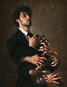 Clean or dirty nails – Dream meanings & interpretations – painting © Giovanni Gasparro – 1983 -… Painting Inspiration, Art Inspo, Kreative Portraits, Art Van, Wow Art, Classical Art, Renaissance Art, Art Plastique, Aesthetic Art