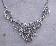 VINTAGE HOLLYWOOD MARCASITE ARTICULATED NECKLACE