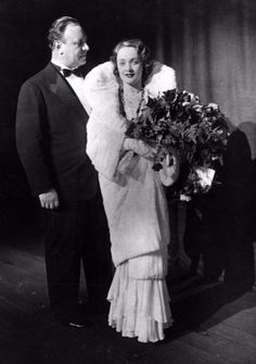 "Marlene Dietrich and Emil Jannings after the premiere of the film ""Blue angel"", Berlin (1930)"